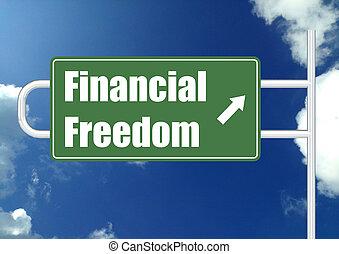 liberté, financier, ciel