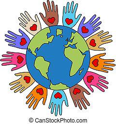liberté, paix, diversité, amour