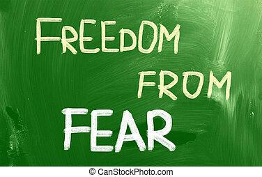 liberté, peur, concept