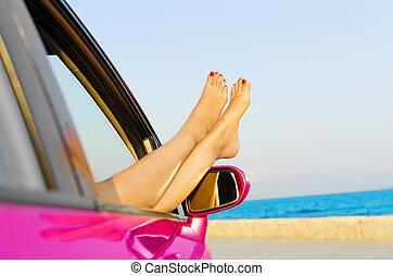 liberté, voyage, concept, vacances plage