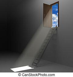 libertad, escalera