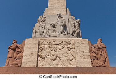 libertad, (fragment), letonia, riga, monumento