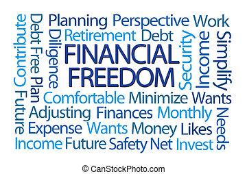libertad, palabra, financiero, nube