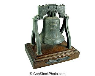Liberty bell Philadelphia replica isolated on white