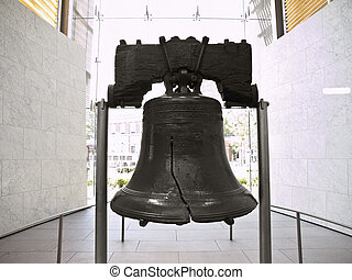 Liberty Bell - Historic Liberty Bell at Independence Hall...