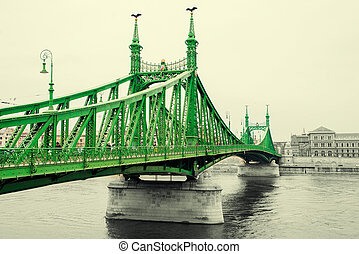 Liberty Bridge at day in Budapest