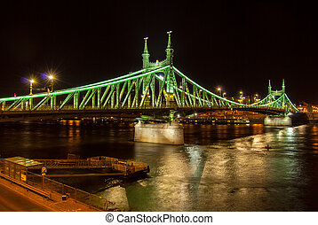 Liberty bridge in Budapest