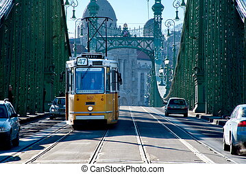 Liberty Bridge of Budapest, Hungary