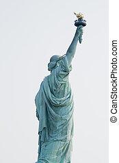Liberty statue - Shot of the liberty statue. New york city