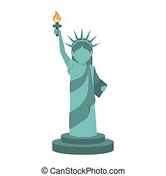 liberty statue usa - liberty statue monument torch iconic...