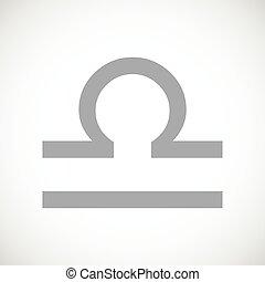 Libra black icon