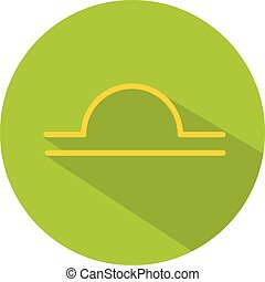 Libra. Classic Astrological Zodiac Sign. Vector icon in Flat Style with Long Shadow