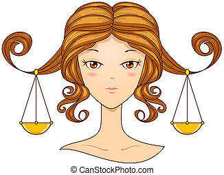 Libra Girl with Clipping Path