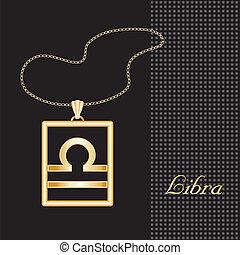 Libra Gold Necklace