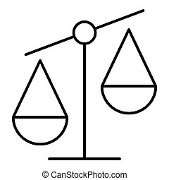 libra line icon on white background. Vector icon, outline design. Eps 10