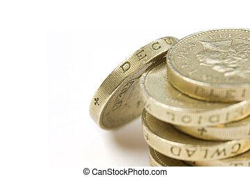 libra, moneda, uno
