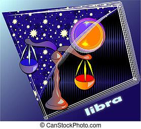 libra - post card