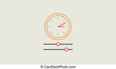 Libra question mark check mark money and clock. Motion Graphics. Animation Video.