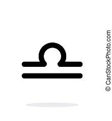 Libra zodiac icon on white background.