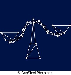 Libra zodiac sign.