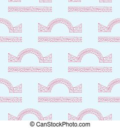 Libra zodiac sign. Vector hand drawn horoscope pattern. Astrological seamless background.