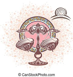 Libra. Zodiac sign - Zodiac symbol for your design