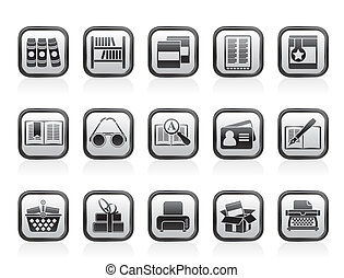 Library and books Icons