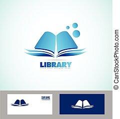 Library book logo icon