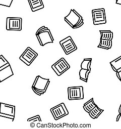 Library Book Seamless Pattern Vector