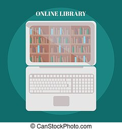 library book shelf background