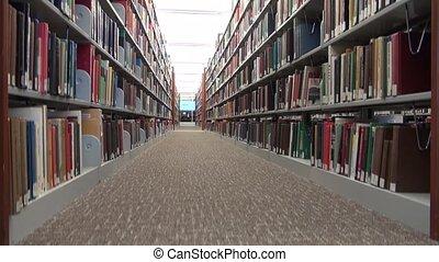library book shelves and racks