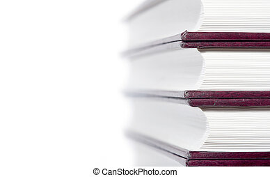library books background - Library books isolated on a white...