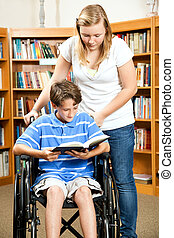 Library - Disabled Boy