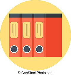 Library, documents flat style, colorful, vector icon