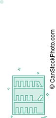 Library icon design vector