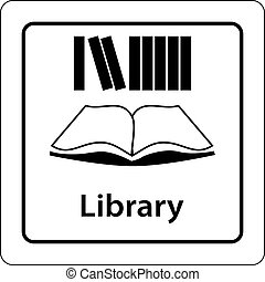 library icon sign