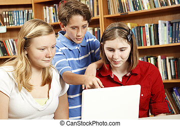 Library Kids on Computer