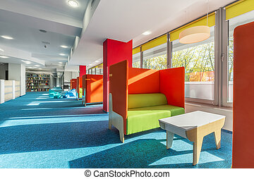 Library lounge area with sofas - Library lounge area with...