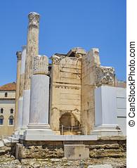 Library of Hadrian . Athens, Attica region, Greece. -...