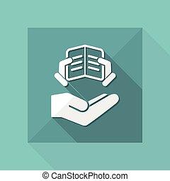 Library service - Minimal icon