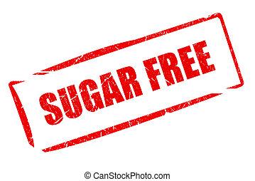 libre, azúcar, estampilla, caucho