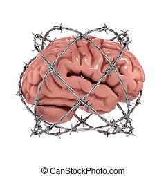 libre, concepto, pensamiento, censura