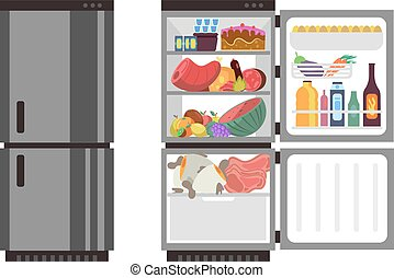 open frigidaire ferm illustration vendange clipart vectoris recherchez. Black Bedroom Furniture Sets. Home Design Ideas