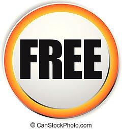 libre, label., prima, gratis, icono