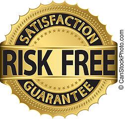 libre, riesgo, garantía, ir, satisfacción