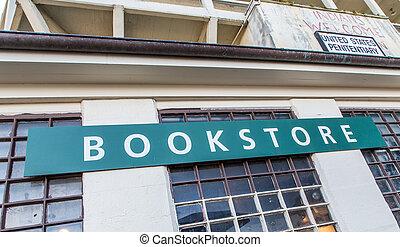 librería, en, isla del alcatraz