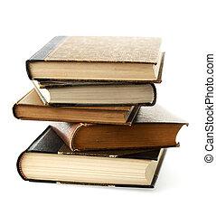 libri, accatastato