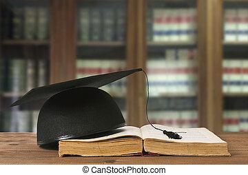 libri, biblioteca, ufficio, legge