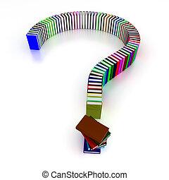 libri, domanda, colorito, marchio