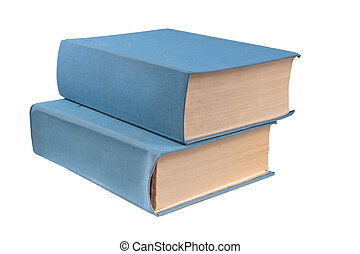 libri, fondo, isolato, bianco